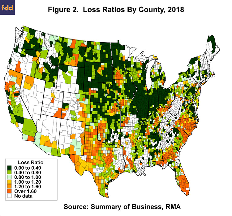 Crop Insurance Loss Ratios in 2018, By Gary Schnitkey